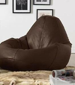 Bean bag Cover Leather sofa chair without Bean XXXL Home decor for luxuries gift