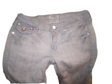 Juniors L.A. Idol Gray Garage Stretch Bootcut Jeans Thick Stitching Size 5 26x31