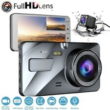 "4"" 1080P HD Dual Lens Car DVR Dash Cam Video Recorder Front & Rear G-Sensor UK"