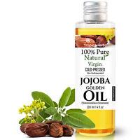 Golden Jojoba Oil 100% Cold Pressed Pure Natural Unrefined Skin Hair Nail Lip