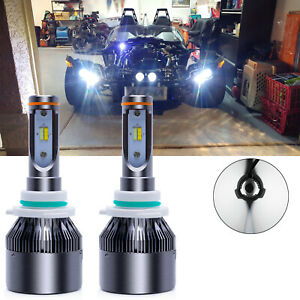 2x For Polaris Slingshot S SL SLR LE Center 6000K White LED Headlight Kit Bulbs