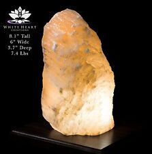 """8.1"""" Red Selenite Crystal Lamp With Black Walnut Base - RC-916-12 (Exact Lamp)"""