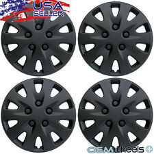 "4 NEW OEM BLACK 17"" HUB CAPS FITS CHRYSLER MINI VAN CAR CENTER WHEEL COVERS SET"
