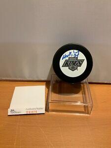 Hockey HOF Wayne Gretzky Autographed Kings Puck JSA Cert