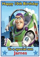 Personalised Buzz Lightyear Inspired Birthday Card - Awesome !