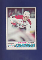 Rick Green RC 1977-78 O-PEE-CHEE OPC Hockey #245 (EXMT+) Washington Capitals