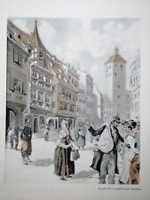 c71-83 Gravure contes & récits d'Alsace de la rue d'or au Mexique