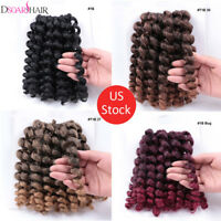 """8"""" Afro Synthetic Soft Jumpy Wand Curl Crochet Twist Braiding Hair Extensions US"""