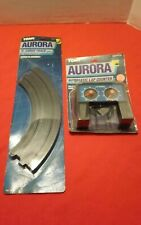 """Vintage Aurora Tomy NOS Slot Car 9"""" Curved Track Pair #8623 & Lap Counter #8629"""