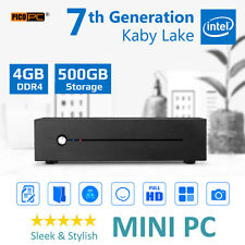 7th Gen Intel Kaby Lake 3.5GHz mini ITX HD HOME/OFFICE Mini PC 4GB RAM 500GB