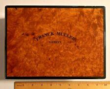 "FRANK MULLER Geneve Watch Storage Box, 6 1/4"" x 8 1/2"" x 3 1/2"" tall  --  548"