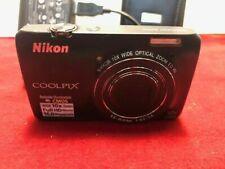 NIKON COOLPIX S6300 Digital Camera BLACK 16 Meg 10X Full HD USED