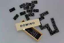 448 Domino Spielsteine (16x28) in Holzbox 15x5x3 cm Dominospiel Dominosteine
