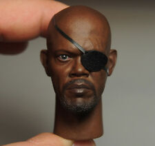 Custom 1/6 Scale Nick Fury 2.0 Head Sculpt With Eye Mask For HotToys Body