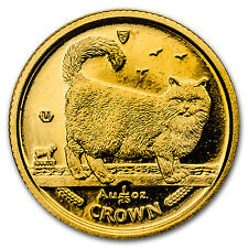 1998 Isle of Man 1/25 oz Gold Birman Cat - Sku #132641
