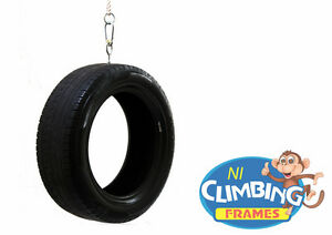 Complete Vertical Tyre Swing & Ropes: Climbing frames, Childrens, For Swing Set
