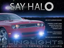 White Halo Angel Eye Fog Lamps Driving Lights Kit for 2008-2014 Dodge Challenger