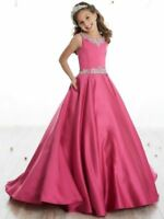 Newest Girls Dress Wedding Pageant Birthday Prom Party Full-Length Gown