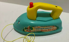 VINTAGE 1966 Fisher Price MUSIC BOX IRON Push Toy