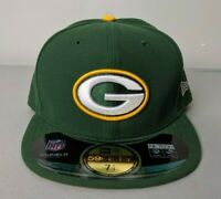 NEW ERA NFL Green Bay Packers Fitted Size 7 1/4 57.7cm On Field Hat Cap