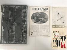 Vintage Hasegawa 1:32 Focke Wulf Fw190 Kit No.JS-060 Complete No Box Please Read