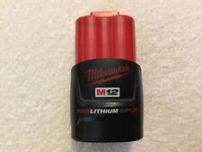 New Genuine Milwaukee 48-11-2401 Battery 12 Volt 12V M12 Red Lithium Ion OEM