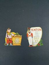 Lot Of Two (2) Vintage Christmas Present Tags No Peeking, Don't Open 'til 12-25