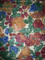 "Autumn Harvest Bounty Multi-Color 60"" W X 84"" L Oblong Fabric TABLECLOTH NEW"