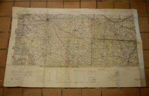 Vintage 1941 War Office, First Ed., War & Navy Road Map,Nantes-Poitiers, France