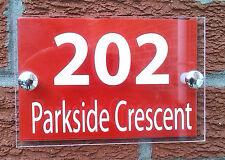 CASA MODERNA Firmare/Placca-Qualità Acrilico + rosso alluminio PIASTRA POSTERIORE