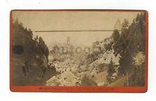 Pont du Gottéron - Original Carte-de-visite Photograph - Late 19th Century