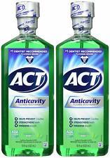 (2 pack) ACT Anticavity Fluoride Mouthwash, Mint - 18 fl oz bottle