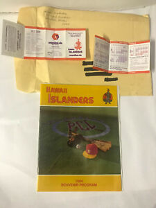 1984 Hawaii Islanders (Minor League) Program - Plus 2 Game Pocket Game Schedules