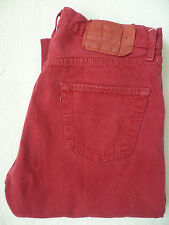 LEVI'S 501 JEANS HIGH WAISTED STRAIGHT LEG W36 L34 STRAUSS OVERDYED RED #LEVF892