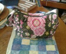 VERA BRADLEY PINK AND GREEN LARGE PURSE