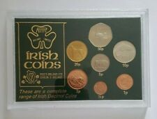 More details for ireland irish coin collection 1/2p - 50p set of seven 7 decimal coins in case