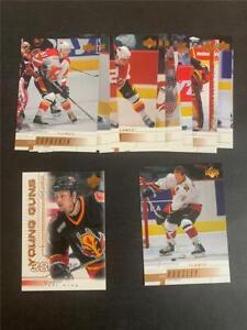 2000/01 Upper Deck Calgary Flames Team Set 13 Cards Young Guns