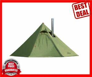 Tipi Hot Tent with Fire Retardant Stove Jack for Flue Pipes, 3 Person Lightweigh