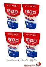 6000 filtri SuperDiscount Slim 6mm XXL Bag (4 sacchetti da 1500)