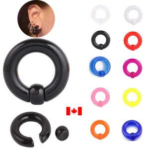 Pair punk Captive Bead Ring acrylic Lobe Tragus Eyebrow Stud earring jewelry