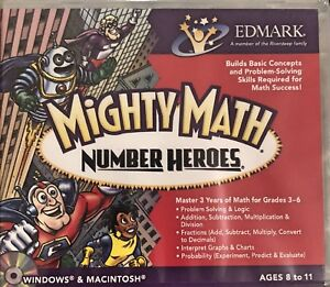 Mighty Math Number Heroes Pc New XP Grades 3rd to 6th Math Problem Solving