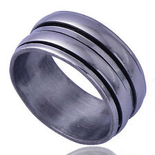Hot Men's Zirconia Stone Band Ring White stainless steel Free Shipping Size 7