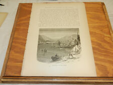 1874 Antique Print/THE HUDSON RIVER, NORTH OF PEEKSKILL