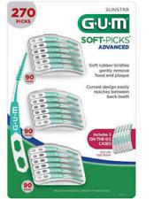 GUM Soft Picks Advanced 270 PICKS. Includes 3 On The Go Cases.