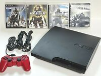 Sony PlayStation 3 160GB Slim PS3 Console Bundle Controller, 4 Games CECH-3001A