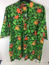 Mens Casual Camp Hawaiian Tropical Cotton Shirt Size XXL VGC Emil Villa Royal