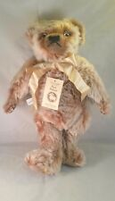 Merrythought Mohair Bear 20� two tone Brown Limited #'d jointed growler Nwt
