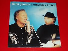 "7"" VINYL - TOM JONES & VAN MORRISON - ""CARRYING A TORCH"" - UNPLAYED"