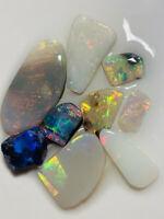 Australian Opal ROUGH L/R Rubs High Grade Bright Multi colour 15cts WA1300 VIDEO