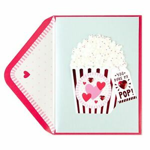 PAPYRUS Make My Heart Pop POPCORN  Valentine's Day Card Retails for $7.95